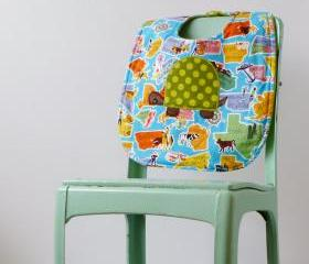 Retro States with a Turtle Baby Bib - Gender Neutral Baby Shower Gift