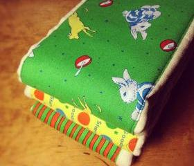 Cloth Diaper Burp Cloths made with Goodnight Moon themed fabric, 3