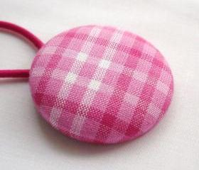 Ponytail Holder, Pink Plaid