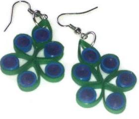 Quilled Peackock Earrings