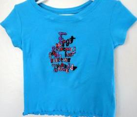 Toddler Girls Tee Embroidered With Military Saying