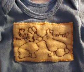Easter Baby Shirt Handmade For Boys Embroidered Chocolate Bunnies