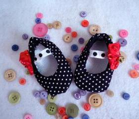Baby Ballet Shoes Polka Dots And Bells