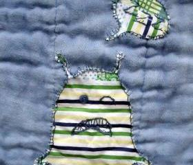 John Deer Burp Cloth TIED DYED With Monogrammed Monster