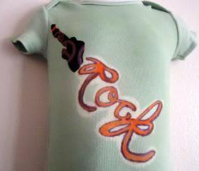 Tied Dyed Rock Onesie UNISEX In Size 12 Months