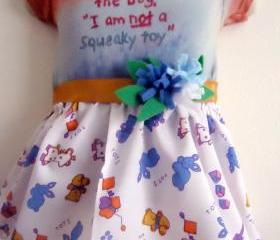 Funny Baby Dress Tie Dyed In Size 3 to 6 Months