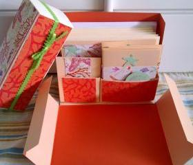 Stationery Box - Peach, Orange and Coral set