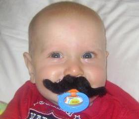Mustache Boy Pacifier COWBOY Style