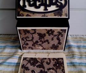 Recipe Box - Black Lace