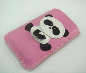 Yen the Panda iPhone Leather case ( Pink )