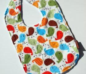 bird Baby bib Minky bib