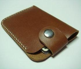 Men / Women Leather Cardholder ( Brown )