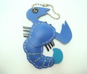 Sam the Scorpion leather charm ( Bright Blue )