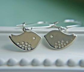 Lovebirds Earrings In Silver. Simple And Lovely
