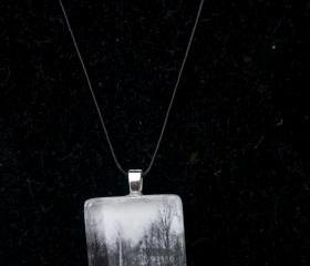 Trees Pendant on Black Cord