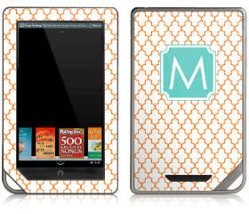 Moroccan eReader Skin - Nook or Kindle