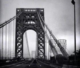 Architecture Photo, NYC photos, George Washington Bridge, black & white, 8x10&quot; print