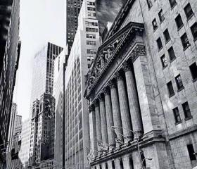 Architecture Photo NYC photos black & white Stock Exchange 8x12""