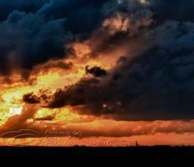 Sunset Photo cloud dramatic flames contrast print 8x12""