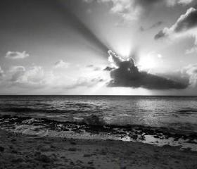"Sunset Photo black & white cloud cross contrast 8x10"" print"