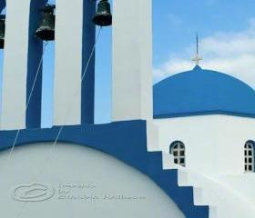 Greek island photo orthodox church travel Greece blue 8x12&quot; print
