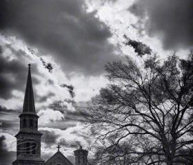 Morristown United Methodist Church Travel Photo black & white 8x12&quot; print