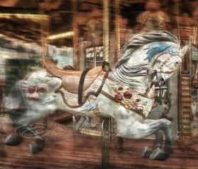 Home Decor for children photo art vintage horse carousel 8x10&quot; print