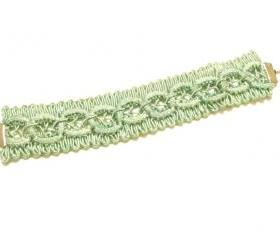 Mint Lace / Fabric Bracelet Cuff - Spring Fashion