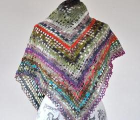 Triangular Gypsy Crochet Shawl