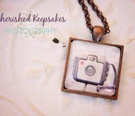 Retro Camera Series #1 Glass Pendant Necklace