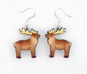 Polymer Clay Reindeer Earrings