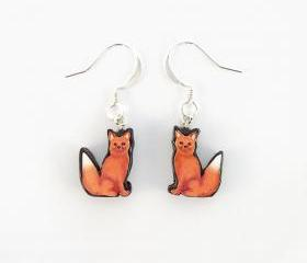 Polymer Clay Fox Earrings 