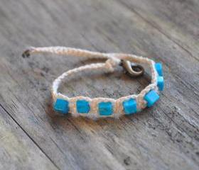 Blue Howlit Friendship Bracelet
