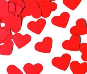 Heart Scrapbook embellishment. Die cut. Valentine's Red - 500 pieces. Weddings / Party decor / card making