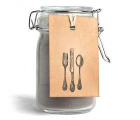 Silverware kraft tags . Gift label tags for decoration . kitchen . cutlery . table decor food embellishment . dinning vintage tags