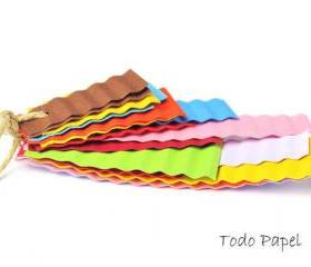 DIY Lasagna card stock paper in Rainbow colors