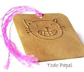 9 Oscar the cat. Embossed gift tags. Pet Lover. Kitty love. Gift tag / gift wrap / embellishment / smile / grin / cute / fun
