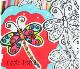 Dragonfly scrapbook embellishment. Do it yourself / DIY / Arts and Crafts / kids / card making / Pack of 12