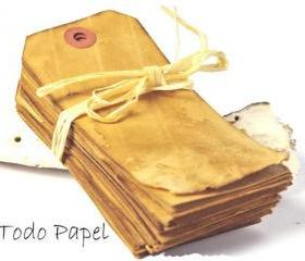50 coffee stained wedding tags . escort cards . place cards . vintage . extra large 4.3/4inch by 2.3/8 inch . wish tree tags