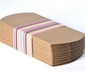 20 kraft pillow boxes . favor box . weddings . party . gift wrap . organization . art projects . small gifts