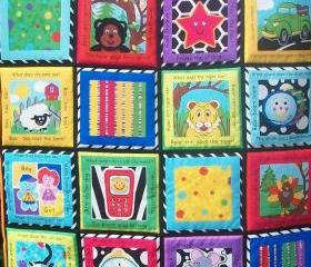 Educational Shapes Colours Quilted wall hanging/ playmat