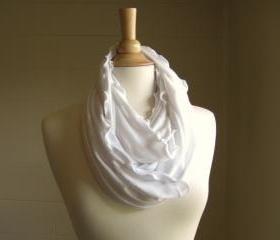 Infinity Scarf White Jersey