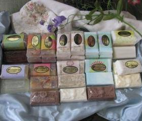3ea Handmade Ornate Soaps Your Choice of Fragrance Mix and Match