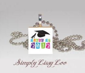 Class of 2012 Scrabble Tile Necklace