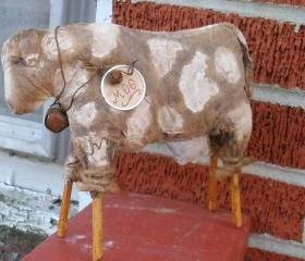 Extreme Primitive Cow Doll -Shelf Sitter or Tuck - For your Hutch, Cupboard or Mantel