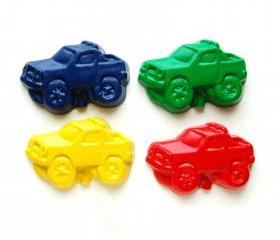 Monster Truck Party Favors - Package of 12 Monster Truck Shaped Crayons