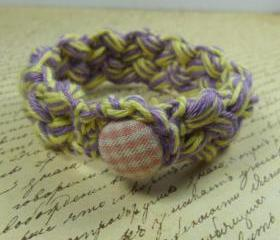 Handmade bracelet - purple & yellow
