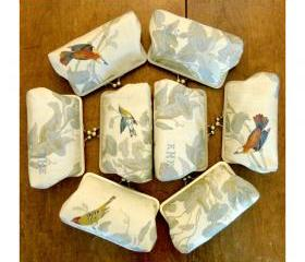 Set of Eight Kisslock Clutch Frame Silk Lined for your Bridesmaids/Wedding Party