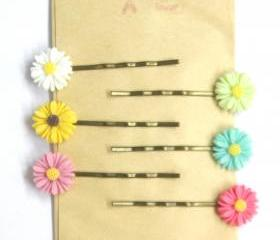 Sunflower hair pins set