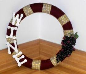 Shabby chic wine wreath